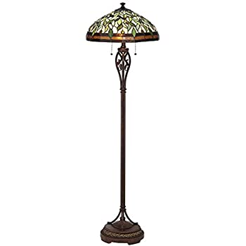Leaf and vine ii tiffany style floor lamp amazon leaf and vine ii tiffany style floor lamp aloadofball Image collections