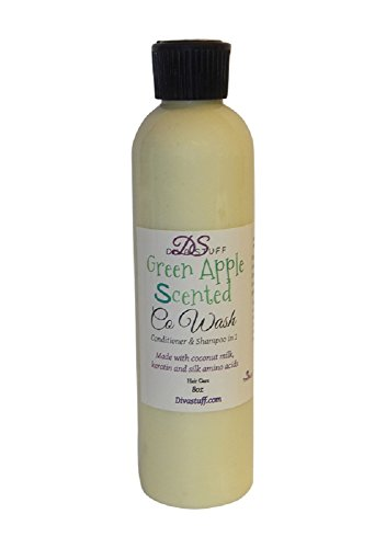 Apple Scented Shampoo (Green Apple Scented Co-Wash Our Shampoo and Conditioner in 1, Amazing Non Lathering Formula , Diva Stuff,)