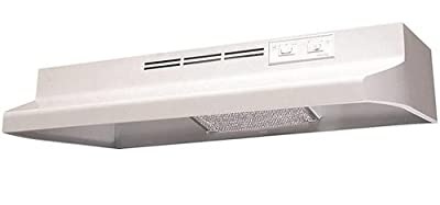 Air King AD1243 Advantage Ductless Under Cabinet Range Hood with 2-Speed Blower, 24-Inch Wide, White Finish