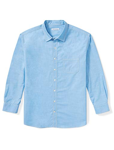 Amazon Essentials Mens Big & Tall Long-Sleeve Chambray Shirt fit by DXL