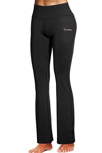 Bootcut Belt - Junlan Yoga Pants, Women's Power Flex Yoga Pants Tummy Control Workout Yoga Capris Pants Leggings (XL, Black)