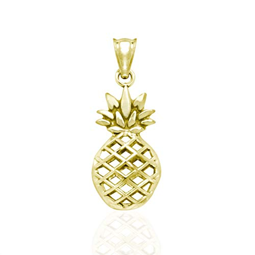 - Honolulu Jewelry Company 14K Yellow Gold Pineapple Necklace Pendant