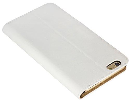 mumbi Ledertasche im Bookstyle für iPhone 6 Plus 6s Plus Tasche weiss