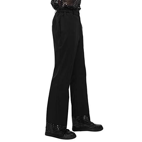 Agoky Men's 70's Disco Pants Shiny Sequins