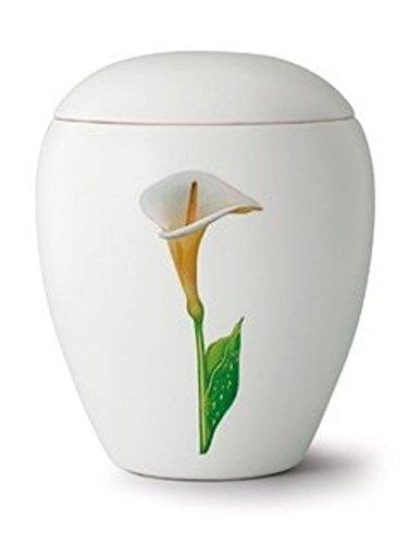 La bara Company ceramica ceneri di cremazione urna – calle (disegno floreale)