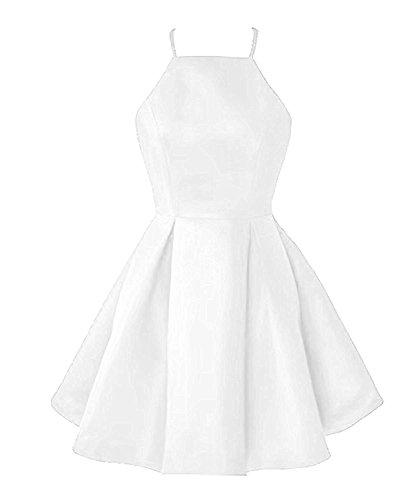 Anna 2018 Women Dress Party Satin s Homecoming Short Bridal Dresses s White Prom rqwTgr