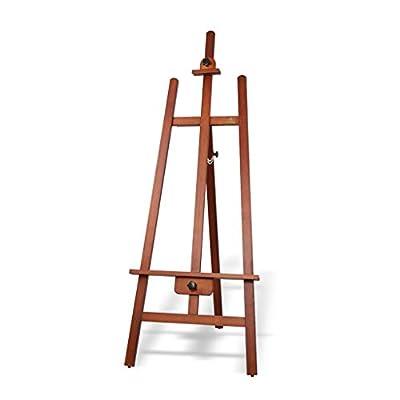 MXueei Easels ZfgG Wood Easel Painting Oil Painting Shelf Solid Wood Advertising Wedding Display Rack, 165 cm Pine