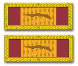 MilitaryBest United States Army Republic of Vietnam Gallantry Cross Unit Citation Ribbon Decal Sticker 5.5
