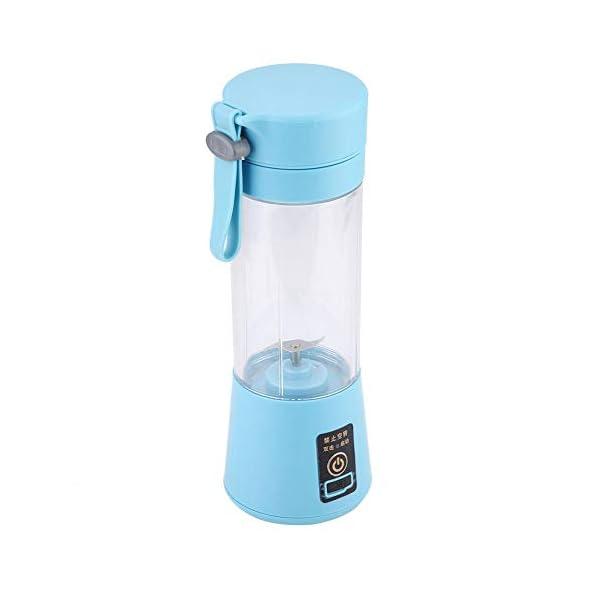 Nitrip USB portatile rosa/azzurro elettrico elettrico succo frullatore macchina succo estrattore doppia lama(Cielo blu) 3 spesavip