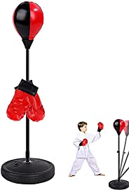 Punching Bag, Boxing Set with Gloves, Boxing Reflex Ball for 2-10 Years Old Boys & Girls, Kids Freestandin