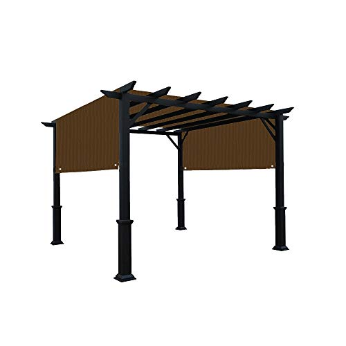 Alion Home Universal Pergola Replacement Canopy Shade Cover with Breathable HDPE Fabric & Rod Pockets for 10 x 10 FT Pergola, Canopy Size: 192