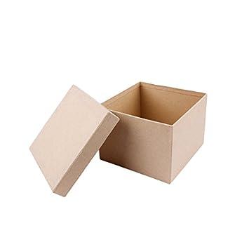 MP PD205 - Juego de 5 cajas scrapbooking cuadradas: Amazon.es: Oficina y papelería