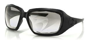 Bobster Scarlet Sunglasses, Black Frame, Anti-fog Clear, Foam