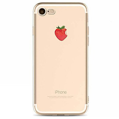 Painted Strawberry - For Apple iPhone 7 7 Plus 6s 6 Plus SE 5S Case Cover Strawberry Pattern TPU Material Painted High Penetration Simple Phone Case (Compatible Models : IPhone SE/5s/5)