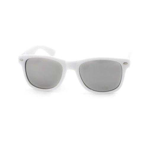ASO Unisex Wayfarer Sunglasses Malibu White Frame Grey Lens -22 MM width - Asos Sunglasses Men