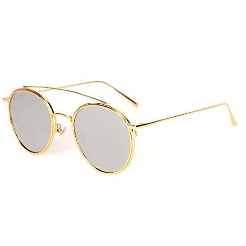 Color Lentilles Lunettes pour UV400 Silver Yellow Frame Lens Frame Hommes Soleil Gold 100 Sakuldes Lens polarisées de Gold xzqdqI
