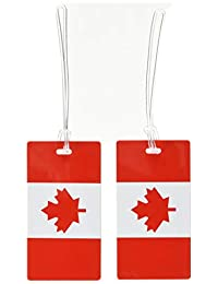 Samsonite 2 Pack Canadian Flag Luggage Tags, Red/White, International Carry-on (Model: 53590-1746)