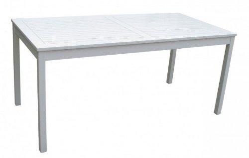 Gartentisch weiß lackiert Eukalyptus FSC-Holz