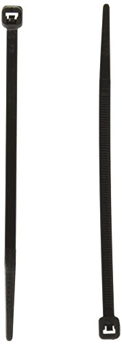 C2G 43220 4 Inch Releaseable/Reusable Cable Ties Multipack (50 Pack) TAA Compliant, Black