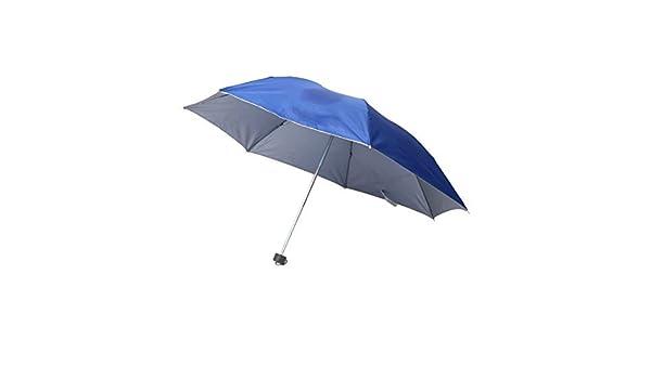 Amazon.com: eDealMax Metal recorrido al aire Libre costillas eje telescópico plegable dom Lluvia paraguas Azul: Home & Kitchen
