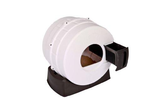 Litter Spinner Quick Clean Cat Litter Box, White by Litter Spinner