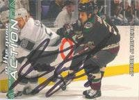 Phoenix Jasper (Jason Jaspers Phoenix Coyotes 2003 In The Game Action Autographed Card. This item comes with a certificate of authenticity from Autograph-Sports. Autographed)