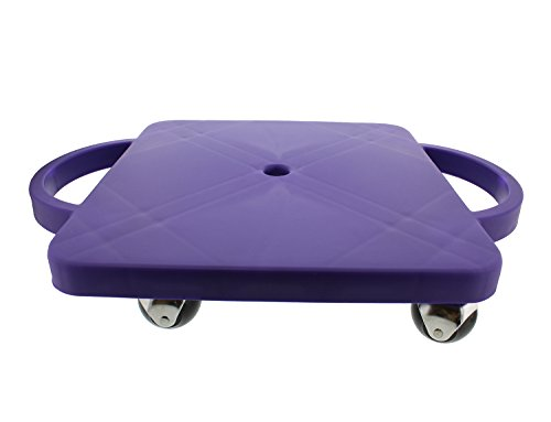 Get Out! Plastic Scooter Board in Purple, Wide Handles, 12
