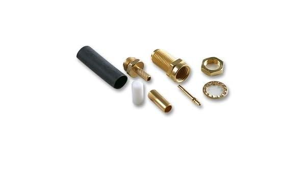 RF Coaxial, SMA, recto de conector Jack, 50ohm - r125303000 ...