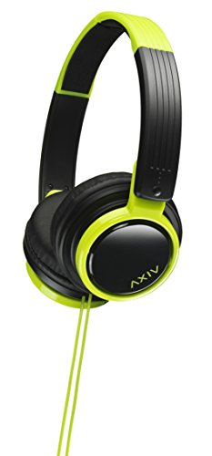 JVC Victor Head-band Foldable Headphones | HA-S200-BG Black & Green (Japanese Import)