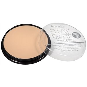 Rimmel Stay Matte Shine Control Pressed Powder, Nude Beige 0.49 oz