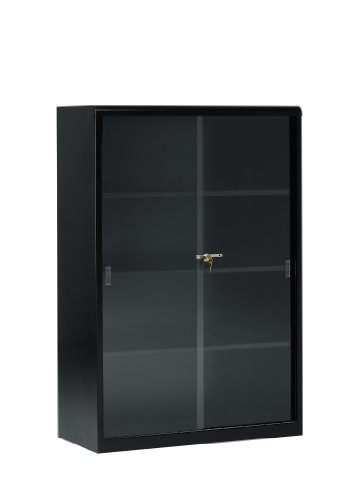 Tennsco 352GL Heavy Gauge Steel Executive Bookcase with Glass Doors and Lock, 36