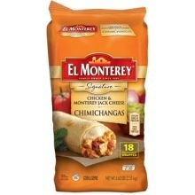 El Monterey Signature Chicken and Monterey Jack Cheese Chimichanga 5625 Pound  6 per case
