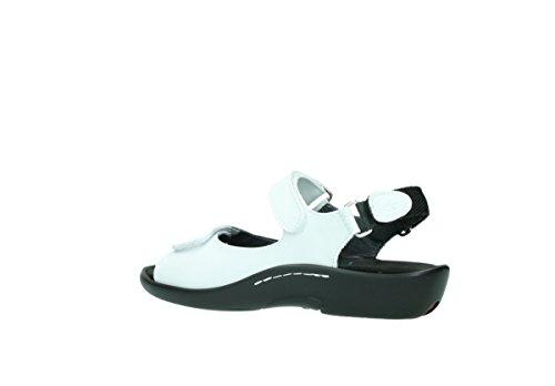 Blanc Womens 30100 Sandals Cuir Leather Wolky 3204 Jewel Oa4wxCnq0