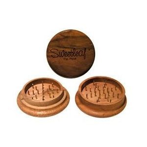 Sweetleaf 2 Piece Wooden Herb Grinder Pocket Size 50mm (Sweetleaf Grinder)