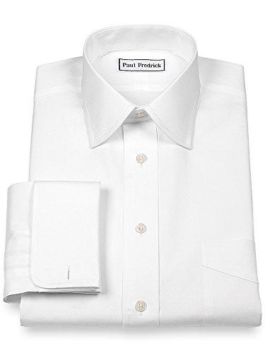French Cuff Oxford Oxford Shirt - Paul Fredrick Men's Pinpoint Varsity Spread French Cuff Dress Shirt White 19.0/35
