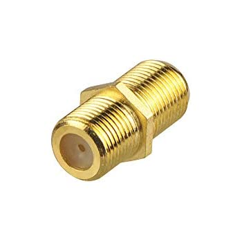 VCE Gold Plated F-Type Coaxial RG6 Connector,Cable Extension Adapter Connects Two Coaxial Video Cables