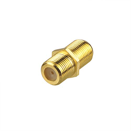 VCE Gold Plated F-Type Coaxial RG6 Connector,Cable Extension Adapter Connects Two Coaxial Video Cables (Coax Extension Adapter)