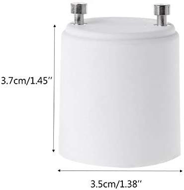 2-Pack E12 to E26 E27 Adapter Screw Light Socket Converter E12 to E26 Adapter