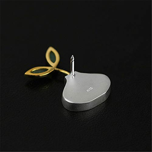 Acecare Sterling Silver Natural Stone Designer Handmade Fine Jewelry Cute Spring in The Air Women Brooches