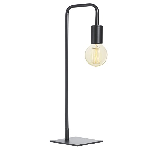 Cheap  Black Table Lamp Contemporary - Bedside Reading Light, Dimmable, Plugin, Metal, Hoyt..
