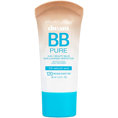 Maybelline Dream Pure BB Cream, Light/Medium, 1 Ounce (Best Drugstore Cc Cream For Dry Skin)