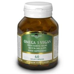 Nature's Own Omega 3 Vegan 60 Capsules by Natures Own - Micro Algae Dha