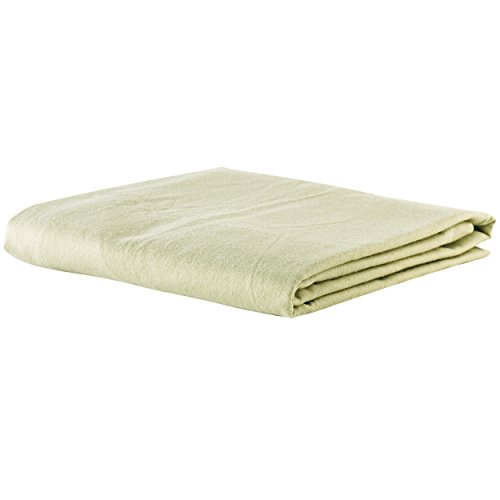 NRG Deluxe Massage Flannel 3 Piece Sheet Set Including Face Rest Cover, Flat Sheet & Fitted Sheet Massage Tables (Sage)