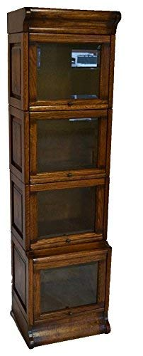Crafters and Weavers Arts and Crafts Mission Solid Oak Barrister Bookcase
