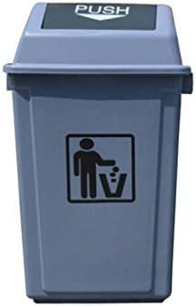 ごみ箱 ゴミ箱スクエアカバーゴミ箱大屋外フリップグレースクエアフリップゴミ箱 (サイズ さいず : 55L)
