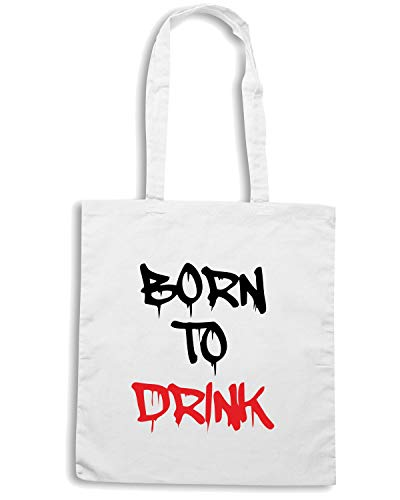Speed Shirt Borsa Shopper Bianca BEER0261 NATO A BERE GRAFFITI