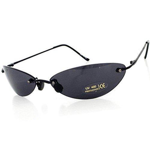 Matrix Morpheus Sunglasses men 13.9 g Ultralight Rimless (Black, Black)