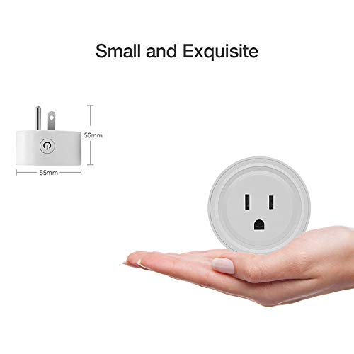 Lljin Smart WiFi Power Socket US Plug Switch for Amazon Alexa/Google Home App Control (Ship from -