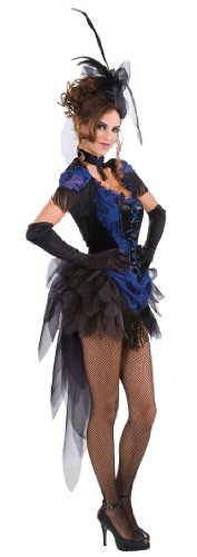[Rubie's Costume Victorian Raven Showgirl Dress, Blue, One Size] (Bird Costumes Women)