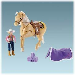 Fisher Price Loving Family Horse - Fisher Price Loving Family Western Horse - Aspen Gold